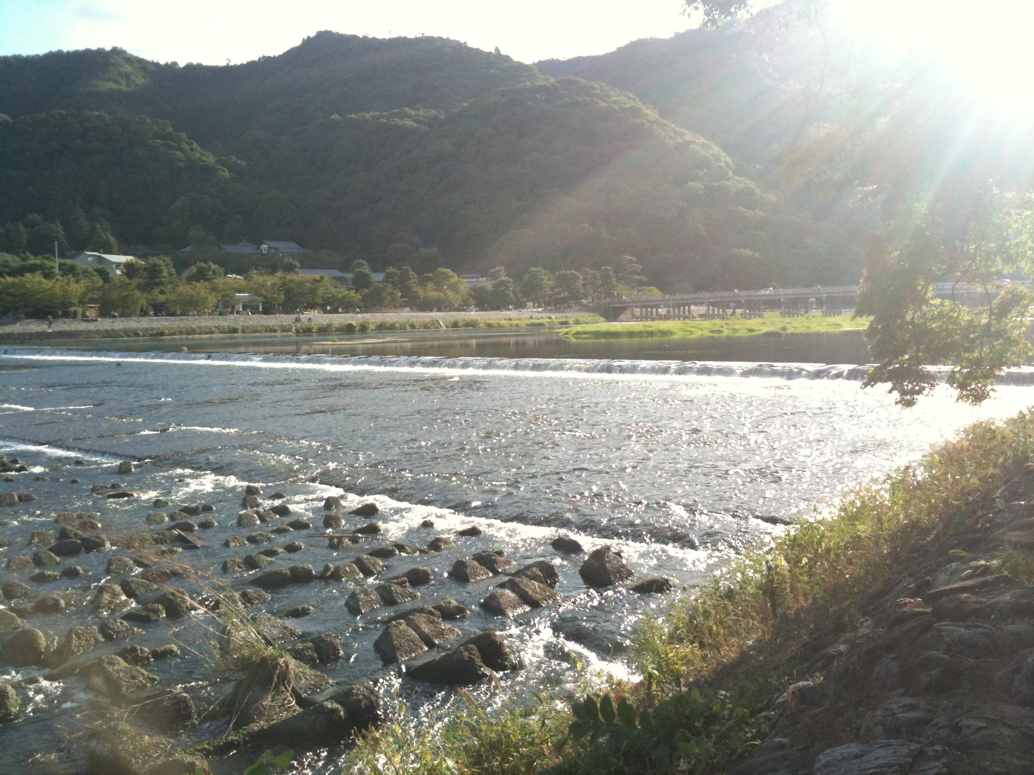 桂川と渡月橋
