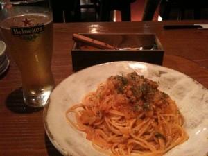 白身魚とトマトのラグーソース・スパゲティー二