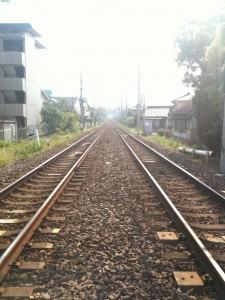 線路上の風景