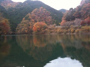 みどり湖の紅葉