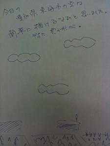 愛知県東海市の夏空の簡単な絵