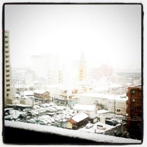 雪の名古屋