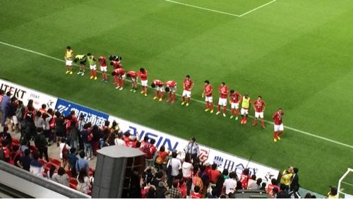 2015 J1ファーストステージ第12節 名古屋対鳥栖、試合後のあいさつ