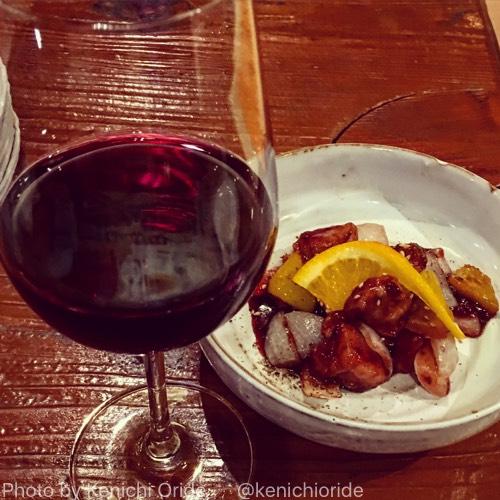 名古屋市中区「ボクモ」の、ワインにあわせる為の酢豚とポルコ