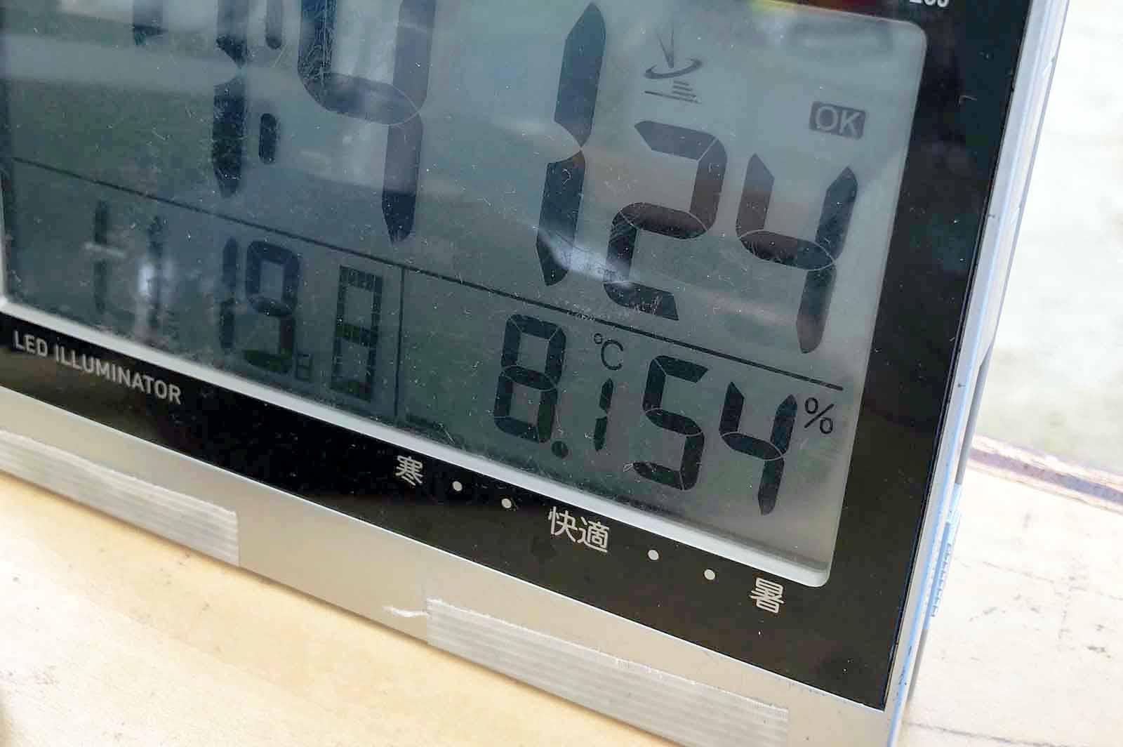 2017年11月19日朝の気温