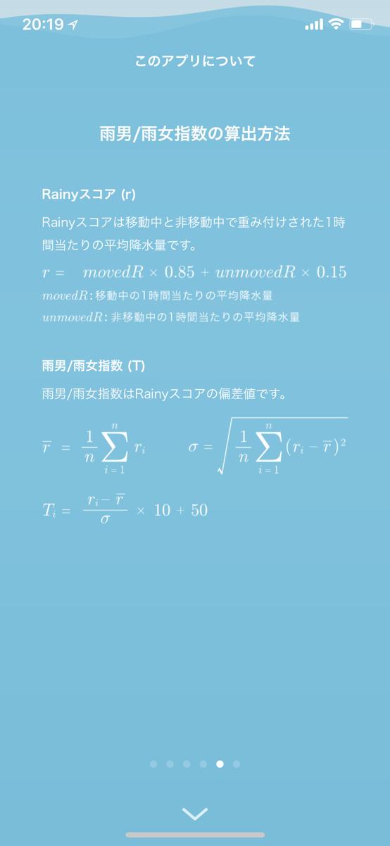 rainy 指数の計算方法