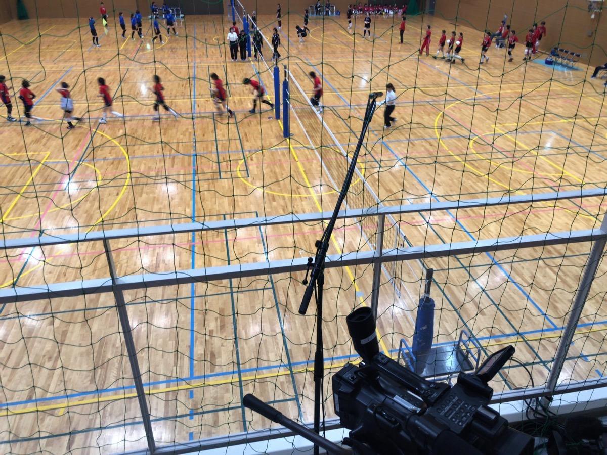 守山スポーツセンターでの、守山区女性レクリエーションバレーボール大会